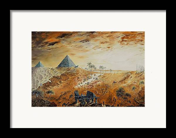 Egypt Framed Print featuring the painting Eternity by Richard Barham