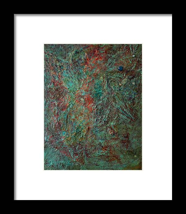 Abstract Framed Print featuring the mixed media Ethereal by Lynn Watters
