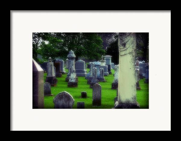 Cemetery Framed Print featuring the photograph Ethereality by Carl Perry