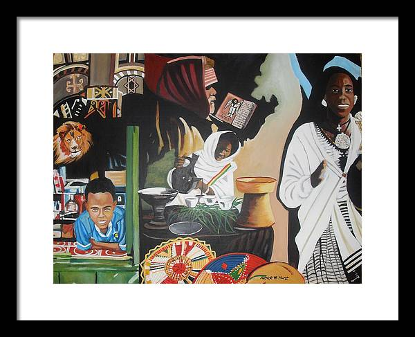 Ethiopia Framed Print featuring the painting Ethiopian Traditions by Patrick Hunt