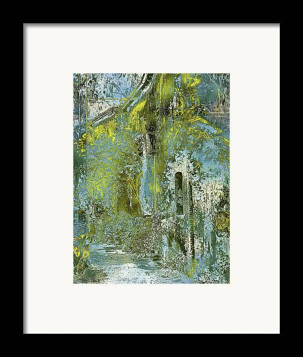 Photopainting Framed Print featuring the digital art Etrurian Lane by Helga Schmitt