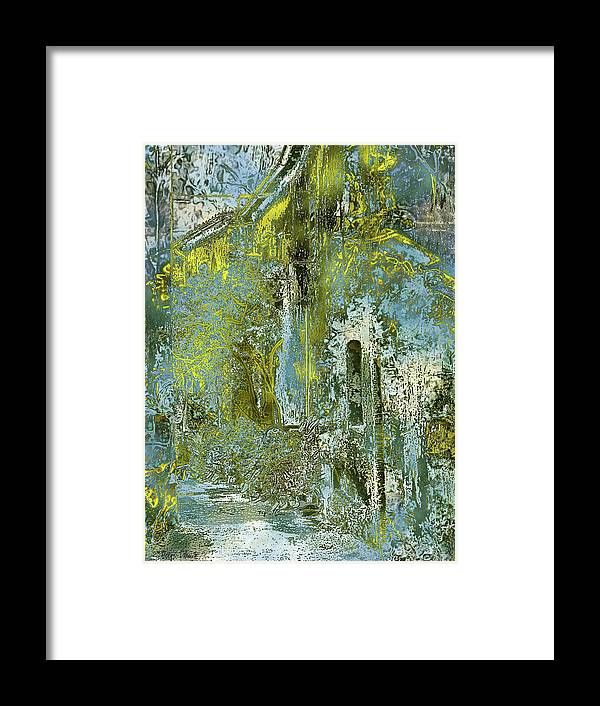 Photopainting Framed Print featuring the digital art Etrurian Lane by Helga Schmitt