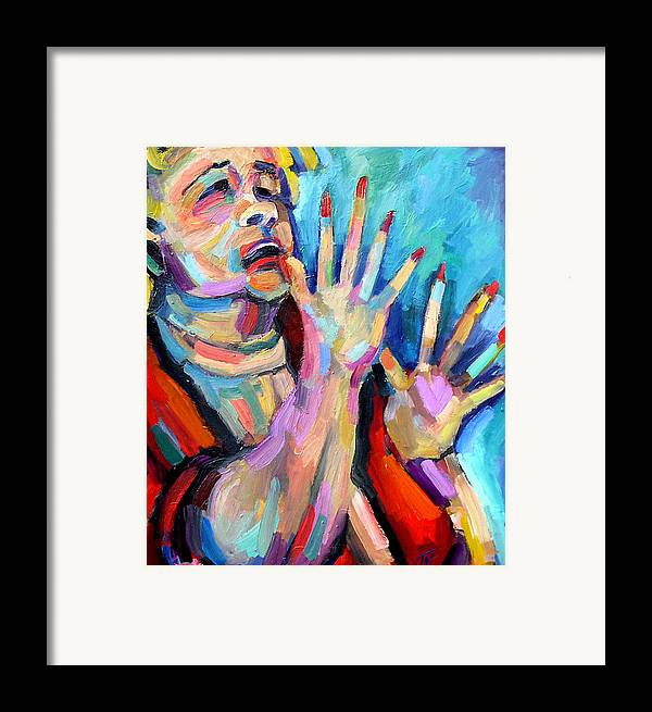 Blues Musician Framed Print featuring the painting Etta James- At Last by Jackie Merritt