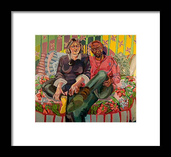 Portrait Of Couple Framed Print featuring the painting Eugene And Joanna by Doris Lane Grey