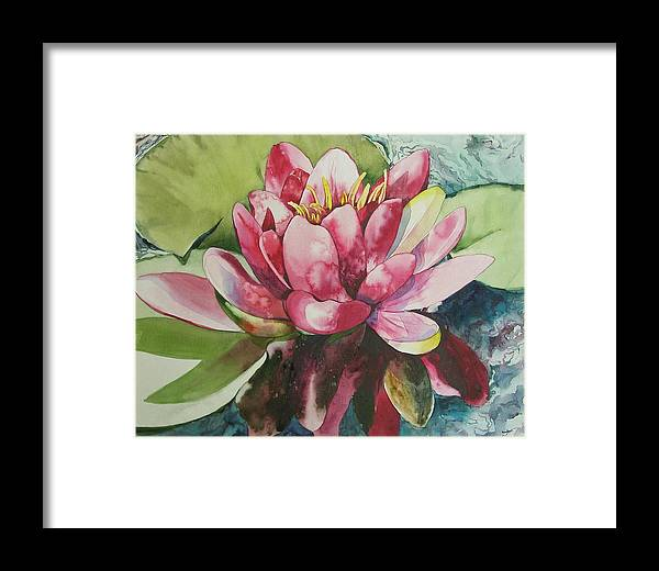 Flower Framed Print featuring the painting Eureka Springs Lily by Marlene Gremillion
