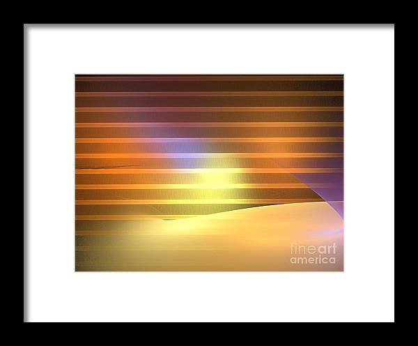 Apophysis Framed Print featuring the digital art Europa Sunrays by Kim Sy Ok