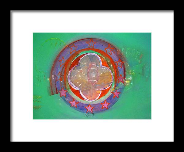 Symbol Framed Print featuring the painting European Merry-go-round by Charles Stuart
