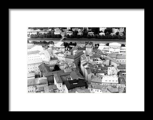 Rofftops Framed Print featuring the photograph European Rooftops by Michelle Calkins