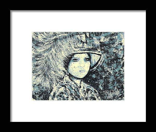 Woman Framed Print featuring the painting Evalina by Natalie Holland