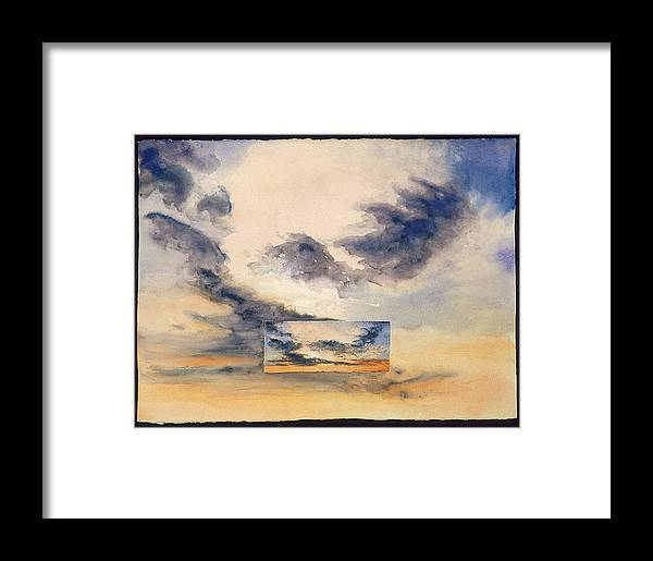 Sunset Framed Print featuring the painting Evanston Sunset by Nancy Ethiel