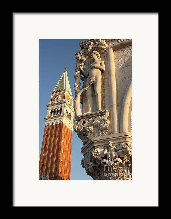 Venice Framed Print featuring the photograph Eve And Bell Tower In Venice At San Marco by Michael Henderson