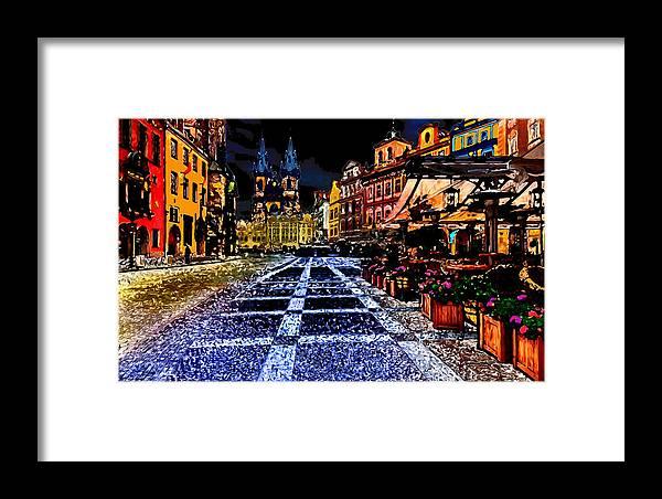 World's Framed Print featuring the digital art Evening Aglow by Ron Fleishman