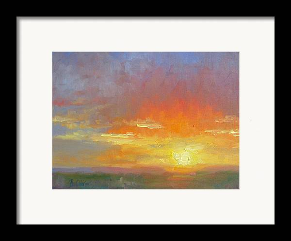 Sunset Framed Print featuring the painting Evening Drama by Bunny Oliver
