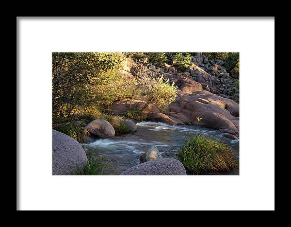 Arizona Framed Print featuring the photograph Evening Flow With Light by Cathy Franklin