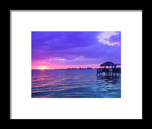Sunset Framed Print featuring the photograph Evening Glow by Florene Welebny