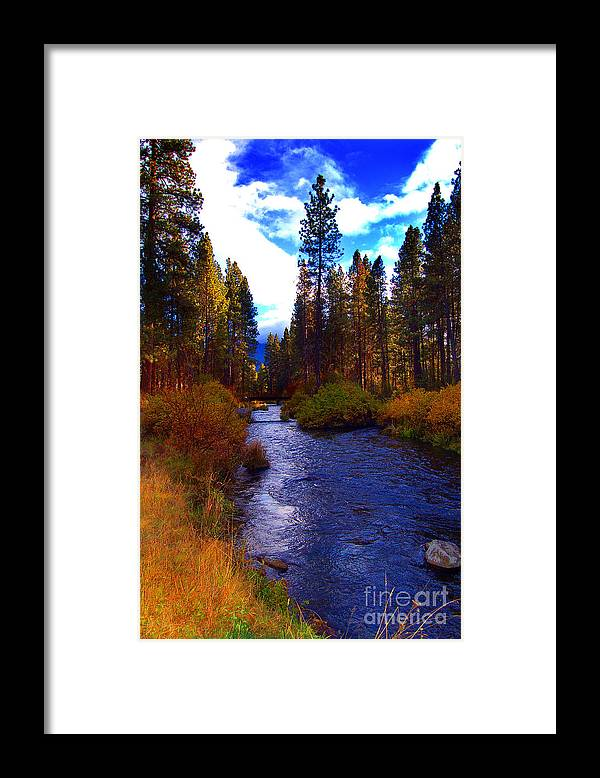 Diane Berry Framed Print featuring the photograph Evening Hatch on the Metolius River Photograph by Diane E Berry