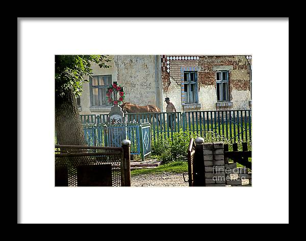 Ukraine Framed Print featuring the photograph Evening In The Village Of Biele Ukraine by Yuri Lev