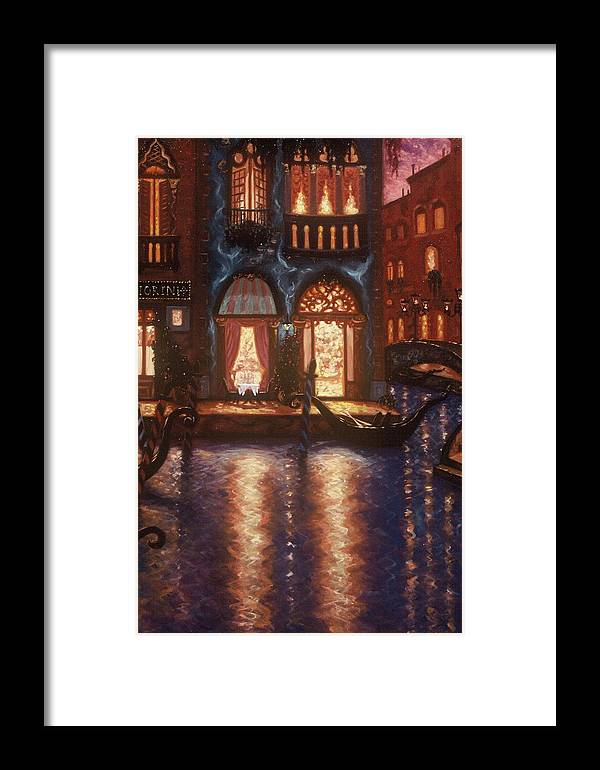 Venice Framed Print featuring the painting Evening In Venice by Scott Jones