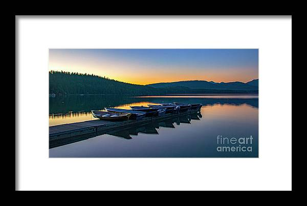 Lake Mcdonald Framed Print featuring the photograph Evening On Lake Mcdonald by Betty Doran