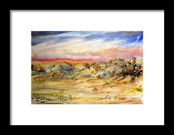 Beach Framed Print featuring the painting Evening On The Beach by Shirley Sykes Bracken