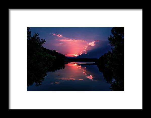 Sunset Framed Print featuring the photograph Evening Reflection by James L Bartlett