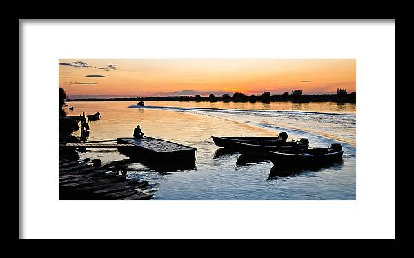 Evening Framed Print featuring the photograph Evening Relaxation by Catalin Pomeanu