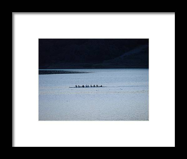 Lake Framed Print featuring the photograph Evening Row by Liz Vernand
