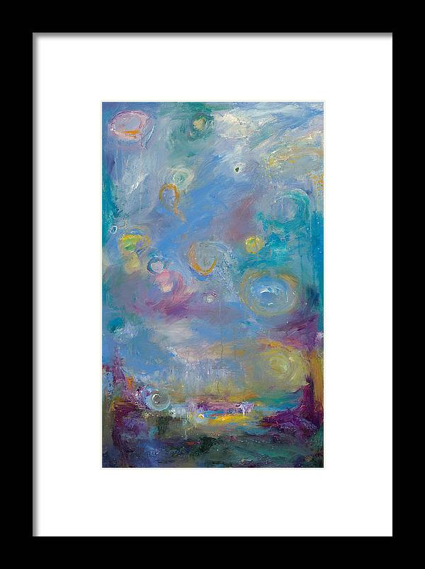 Abstract Landscape Art Framed Print featuring the painting Evening Silhouette by Johnathan Harris