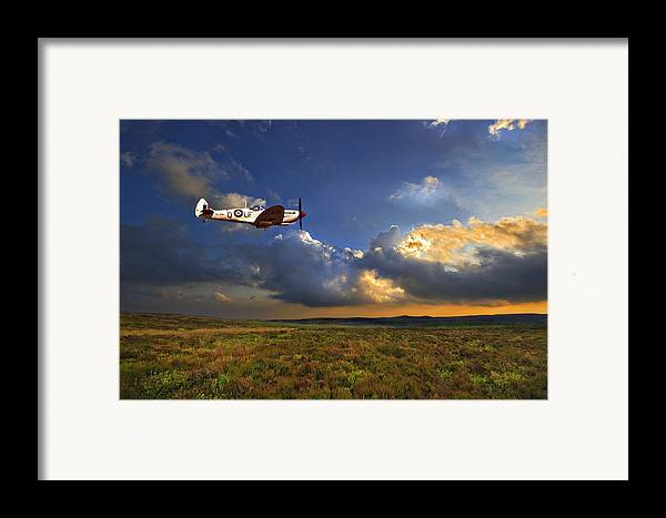 Spitfire Framed Print featuring the photograph Evening Spitfire by Meirion Matthias