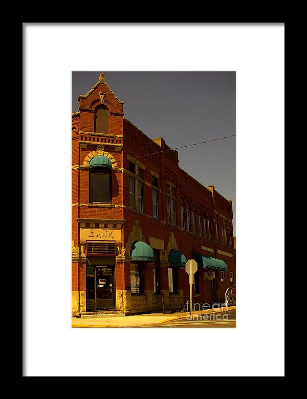 Sun Framed Print featuring the photograph Evening Sun On Red Brick by The Stone Age