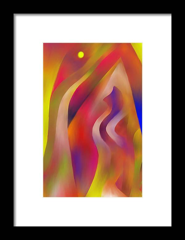 Colorful Framed Print featuring the digital art Evening Sunset by Peter Shor