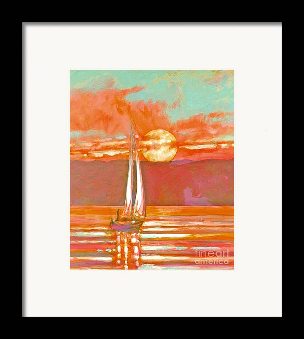 Sailing Framed Print featuring the painting Eventful Evening 2 by Kip Decker