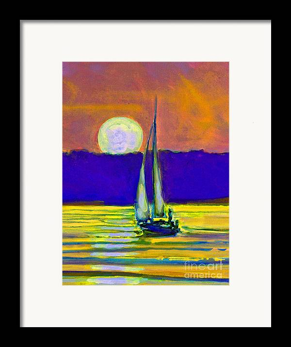 Sailing Moonlight Framed Print featuring the painting Eventful Evening I by Kip Decker