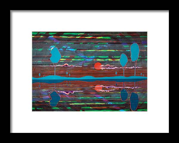 Reflections Framed Print featuring the painting Eventide by Rollin Kocsis