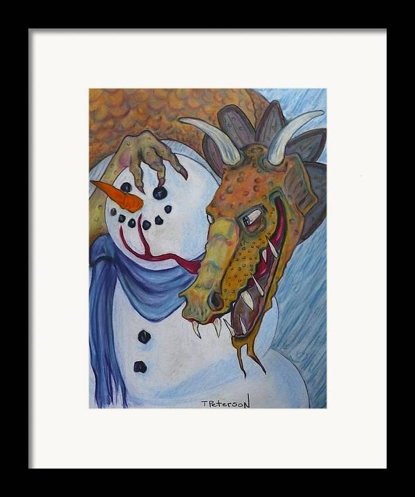 Dragon Framed Print featuring the painting Ever Have One Of Those Days by Todd Peterson