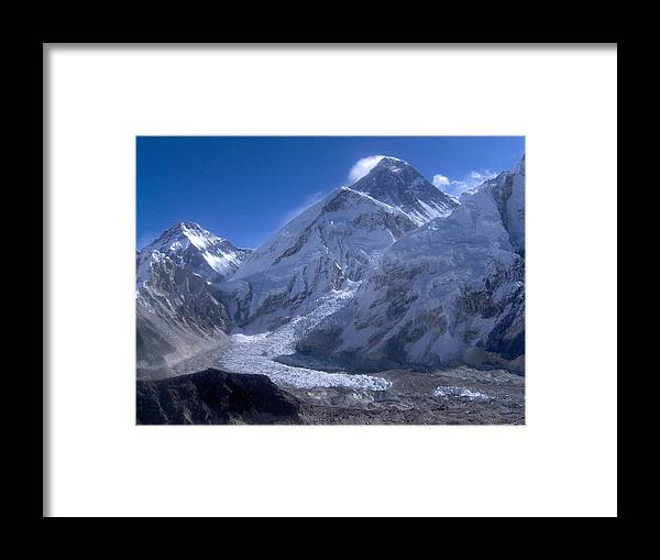 Everest Framed Print featuring the photograph Everest Base Camp by Chris Bradley