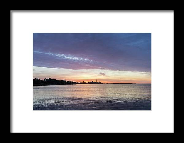Georgia Mizuleva Framed Print featuring the photograph Every Morning Is Different - Toronto Skyline With An Awesome Cloudbank by Georgia Mizuleva