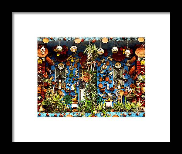 Tlaquepaque Framed Print featuring the photograph Every Nook And Cranny by Mexicolors Art Photography