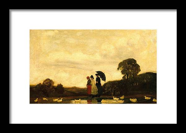 Arthur B. Davies (american Framed Print featuring the painting Every Saturday by Arthur