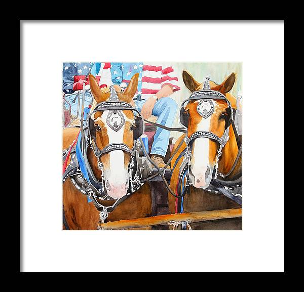 Belgian Framed Print featuring the painting Everybody Loves A Parade by Ally Benbrook