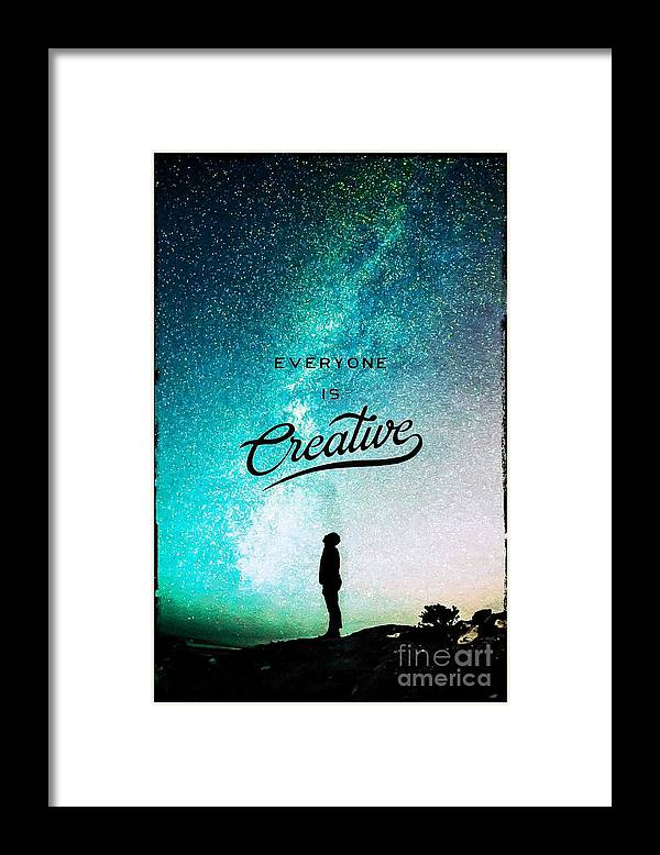 Creative Framed Print featuring the digital art Everyone Is Creative by Vertigo Shop
