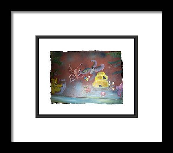 Butterflies.bees Framed Print featuring the painting Everything Has A Journey by Mandy Henninger christophel