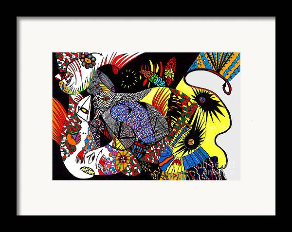 Psychedelic Framed Print featuring the painting Evil Born by Safak Tulga