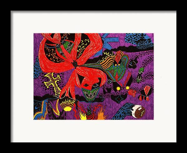 Abstract Framed Print featuring the print Evil Has A Face by William Watson