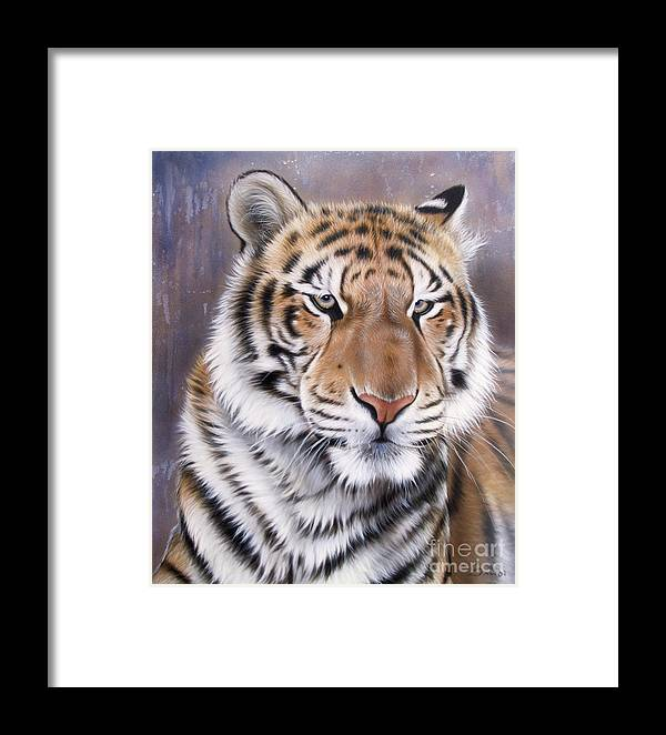 Wildlife Framed Print featuring the painting Evo by Sandi Baker