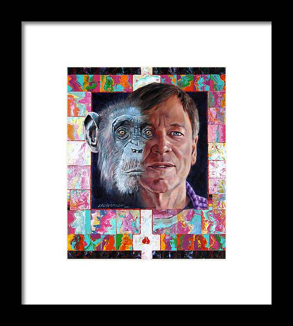 Portrait Framed Print featuring the painting Evolution Of The Self Portrait by John Lautermilch