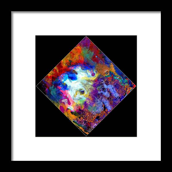 Abstract Framed Print featuring the painting Evolution Series 1006 by Dina Sierra