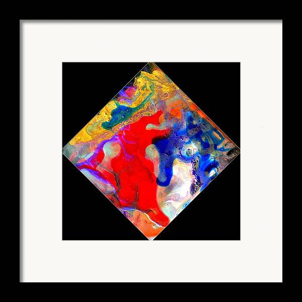 Abstract Framed Print featuring the painting Evolution Series 1007 by Dina Sierra