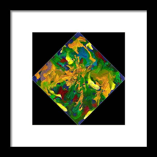 Abstract Framed Print featuring the painting Evolution Series 1008 by Dina Sierra