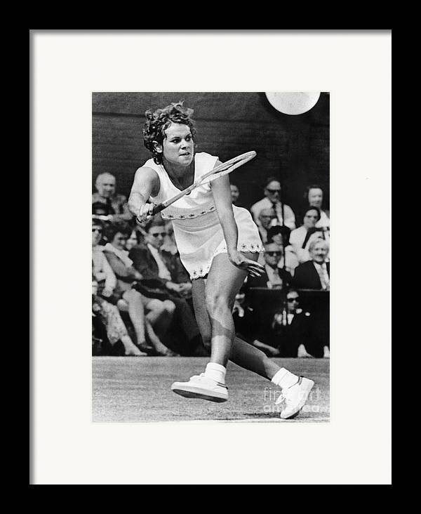 1972 Framed Print featuring the photograph Evonne Goolagong (1951- ) by Granger